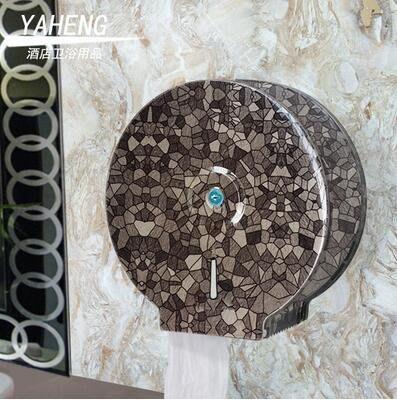 【優上】紙巾架 衛生間 帶鎖 防水 廁紙架 大盤紙盒(A級加厚石斑紋)