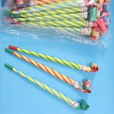 紙吹龍 20cm 伸縮象鼻 聲響長型吹龍(散裝)/一包100支入{定4} 派對童玩~AA6505.瑋