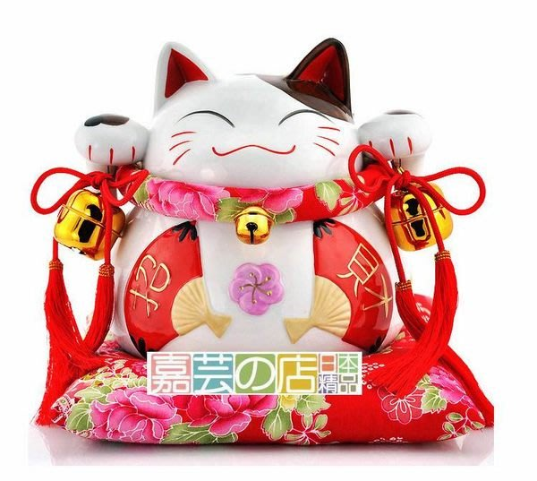嘉芸的店 日本 道樂堂招財貓 開幕禮品 新婚禮品 禮物 禮品 日本製 招財貓 和風扇招財貓