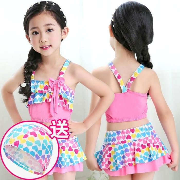女童泳衣 分體性感寶寶公主裙式褲小中大童游泳衣泳裝 兒童比基尼