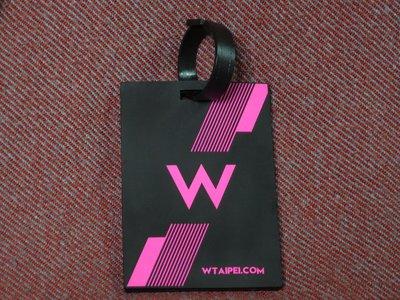 【李歐的精品】近全新 台北W飯店  TPIPEI W HOTEL 黑色橡膠行李吊牌 下標就賣