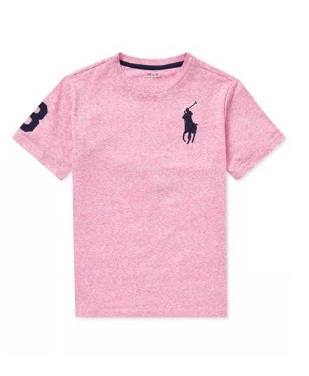 POLO Ralph Lauren 短袖 T恤 大馬 素T  現貨 美國甜心屋 麻花粉色
