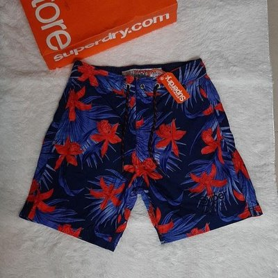全新專櫃正品Superdry Sport極度乾燥海灘短褲L