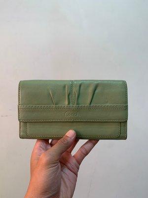 「 二手皮夾 」 COACH 長夾(綠)28