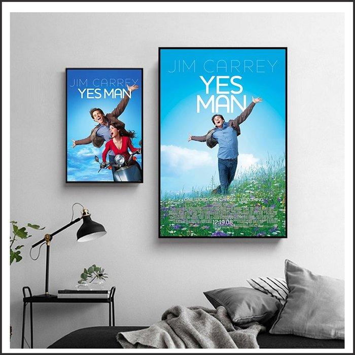 日本製畫布 電影海報 沒問題先生 Yes Man 掛畫 無框畫 @Movie PoP 賣場多款海報~