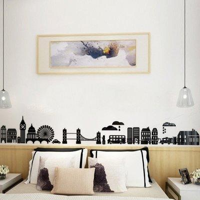 城市剪影 背景牆 裝飾牆 邊線 腰線 壁貼 壓克力壁貼