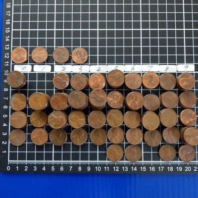 【大三元】美國錢幣-銅1955.1956.1958.1959.1960.1962~1969-林肯ONE CENT一分1分