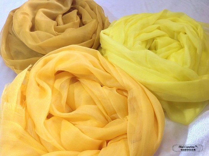 冬季亮點-100% cashmere 黃色系列300支紗pashmina Shahmina 喀什米爾圍巾披肩
