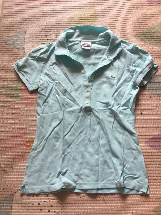 Lacoste淺藍色短袖POLO衫尺寸S