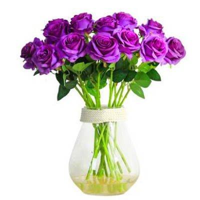 94【單支模擬玫瑰花-陽光玫瑰-長約52cm-5枝/套-1套/組】假花乾花擺件家居裝飾品)-5170852
