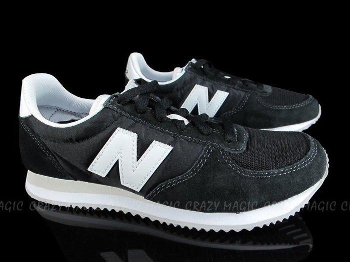NEW BALANCE NB220 復古鞋 黑白 復古色 阿甘 男女生尺寸 情侶鞋 # U220BK