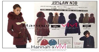 HannahxVIVI 全新 超高人氣襲捲SLY最新2014版n3b羊羔絨貉子毛領修身短版羽絨厚實保暖外套(另有長版)