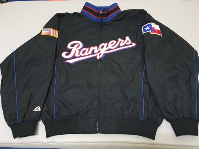 MLB Majestic Texas Rangers 大聯盟 德州遊騎兵隊 球員版 實戰 棒球 外套