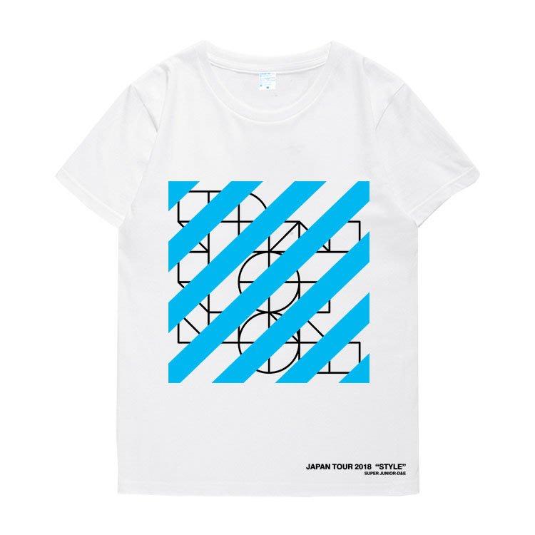 明星同款T恤 短袖 圓領 SUPER JUNIOR D&E組合3rd日巡周邊衣服銀赫