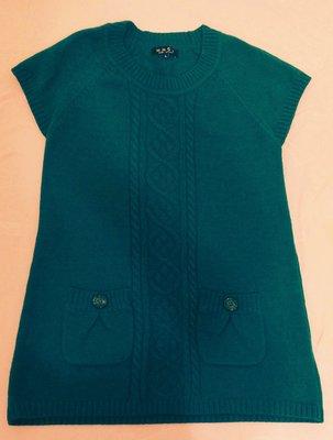 二手時尚【MH6i MUBI JAPAN木比服飾】藍色毛衣背心SIZE:L