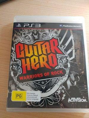 遊戲片無刮痕 PS3 吉他英雄 搖滾巨星 Guitar Hero Warriors of