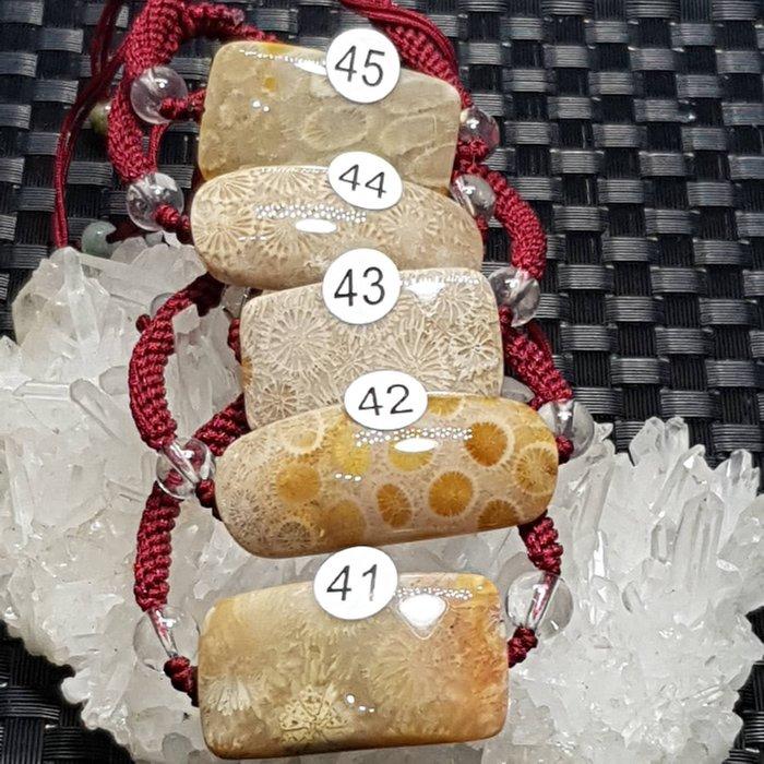 二姐的店 天然 菊花石 珊瑚玉 手鍊 手牌  中國結 設計款 男女款☆特價一條399元 ~h641~645