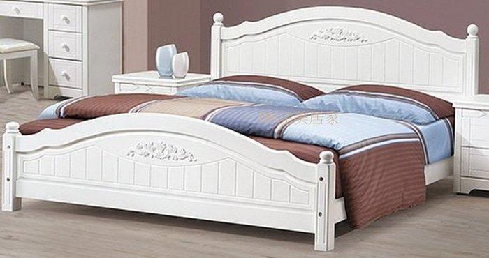 【DH】貨號E601-4名稱《莉貝》6尺白色床檯(圖一) 備有五尺/樟木色.檜木色可選.台灣製.主要地區免運費