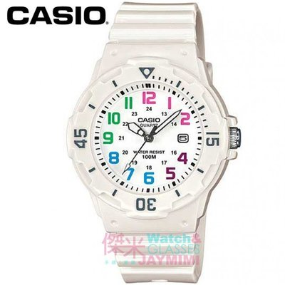 【JAYMIMI】CASIO手錶卡西歐 潛水防水錶 潛行者運動防水錶 防水100m 白色 #LRW-200H-7B