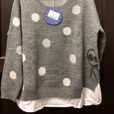 「全新」a la sha秋冬形象款點點假二件式上衣M號