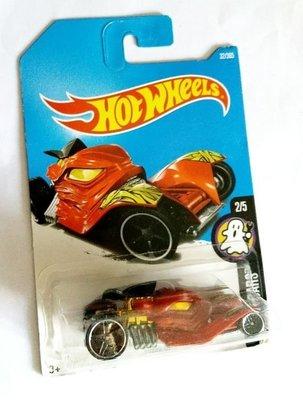 Osmileooo-hot wheels 玩具車 FRIGHT CARS TOMB UP 紅 DTX68 50g