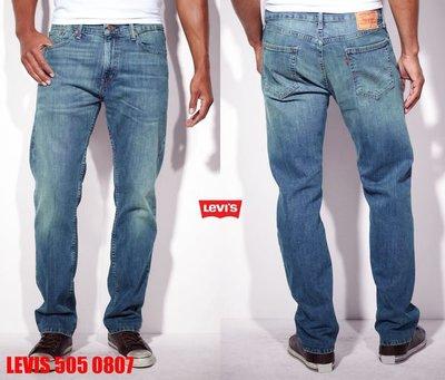 【超搶手】USA 美國Levis 505 - 0807 Standardize  淺藍 刷紋 直筒 牛仔褲 W29