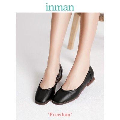 Freedom~女鞋茵曼2019年新款女鞋平底鞋百搭單鞋黑色鞋子配裙鞋通勤4891012033