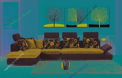 【40*40cm】【厚2.5cm】發財樹-無框畫裝飾畫版畫客廳簡約家居餐廳臥室牆壁【280101_281】(1套價格)