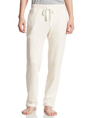 Debbies World 日本超人氣家居休閒品牌gelato pique 男生長褲(M)-白色(內裡刷毛)