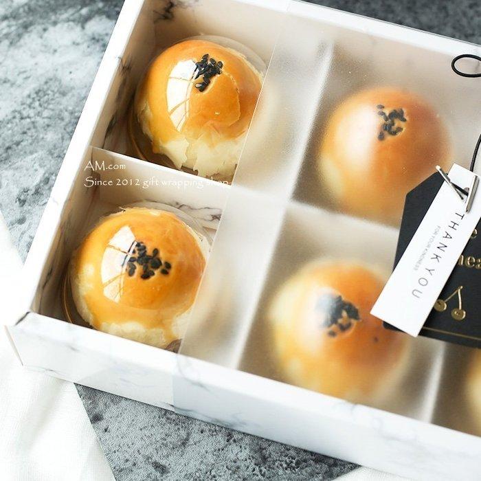 AM好時光【M123】圓形天地蓋 月餅 單入透明包裝盒❤中秋節 禮盒 DIY糕餅原料 巧克力 西點蛋黃酥 鳳梨酥 禮品盒
