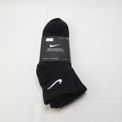 Nike EVERYDAY LTWT ANKLE 3PR 薄底踝襪 三雙入 SX7677010 黑【iSport愛運動】