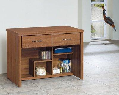 【浪漫滿屋家具】(Gp)556-6 柚木3.2尺二抽書桌