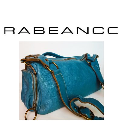 近新 RABEANCO 三用包 斜背包 荔枝紋 真皮製 人氣包款 肩背包 手提包 側背包 軟包359 1元起標 有LV