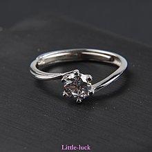 Little-luck~情侶戒指女飾品s925銀純銀戒指活口開口男個性日韓簡約學生送女友