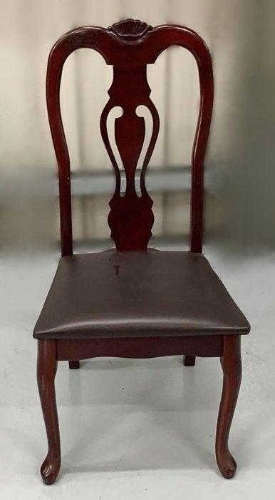 台中二手家具 大里宏品二手家具館 F112614*實木皮餐椅* 二手各式桌椅 中古辦公家具買賣 會議桌椅 辦公桌椅