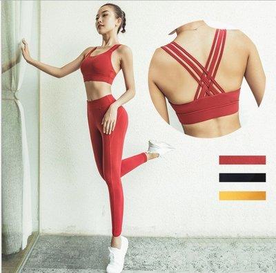【路依坊】健身運動2件組套裝/運動內衣...