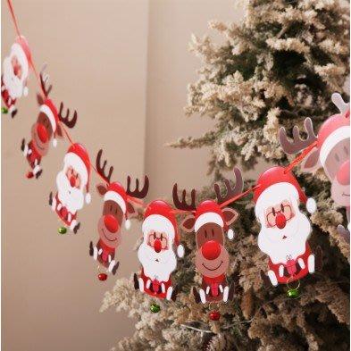 熱銷 聖誕拉旗 聖誕布置 聖誕節旗子 聖誕掛旗 聖誕節 麋鹿 聖誕老人 聖誕襪【CH-01A-10015】