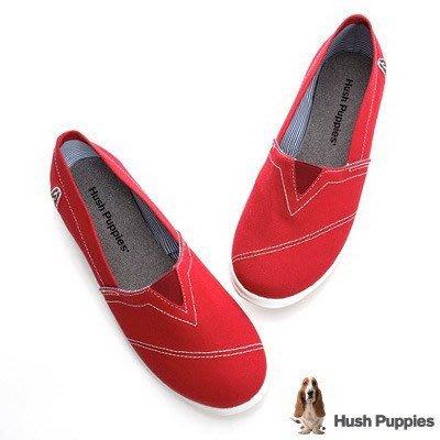 ↘46折 Hush Puppies 基本款 咖啡紗懶人鞋休閒鞋 紅色 toms(全家樂)