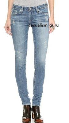 ◎美國代買◎AG Stilt Cigarette Jeans in 17 years salvation 淺藍刷破合身款