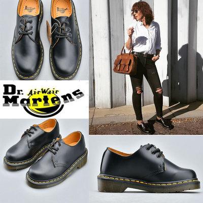 Dr.Martens馬汀博士1461經典光面時尚真皮3孔馬丁單鞋男女款皮鞋 女靴