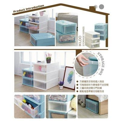 【ikloo】日系可堆疊式收納箱/整理箱(3入組)