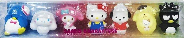 ♥小花花日本精品♥ SANRIO 三麗鷗 公仔家族立體人形擺飾(7入) 4991567265215