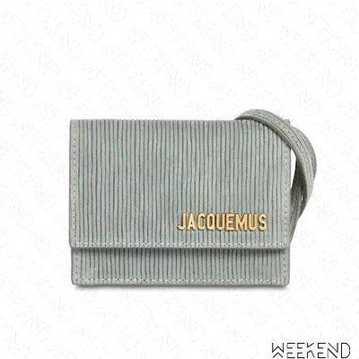 【WEEKEND】 JACQUEMUS Le Bello 麂皮 肩背包 卡其色