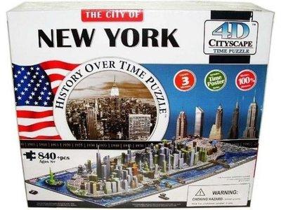 金錢貓雜貨 全新  4D立體拼圖 CITYSCAPE new york 紐約