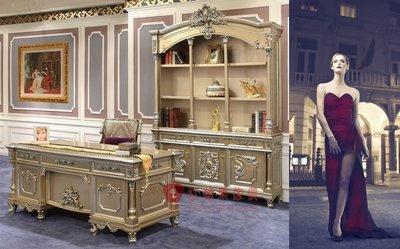 [紅蘋果傢俱] F172W 洛克思瑞系列 新古典 歐式 書桌 法式 宮廷 辦公桌 會議桌 辦公椅 1.8米書桌