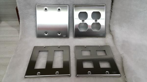 DIY水電材料 開關 插座 蓋板/白鐵蓋板/不鏽鋼蓋板/面板 2聯4孔 6孔 無孔 雙眼鏡孔 可搭配一般插座