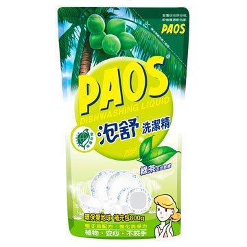 【泡舒】洗潔精 綠茶去油除腥-補充包800g  (超取限購5包)