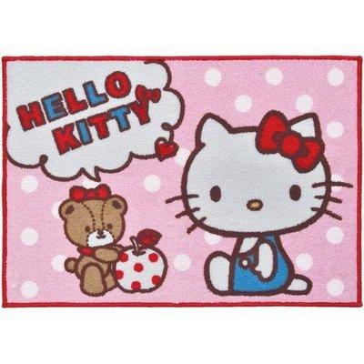 超可愛實用好物~Hello Kitty  凱蒂貓 大地墊  吸水力強 速乾    放在室內/浴室 看了都開心