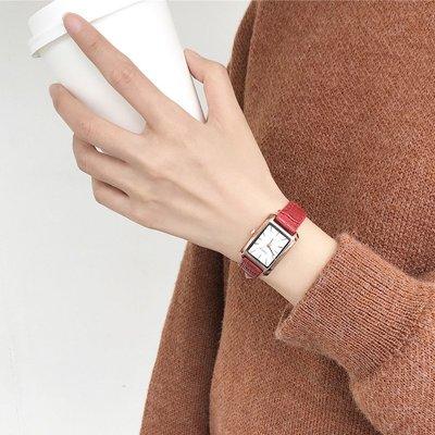 【栗家生活】chic手錶女學生正韓簡約潮流手錶 ulzzang小錶盤方形款森女複古學院風女錶-21622
