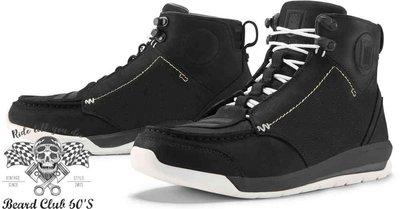 ♛大鬍子俱樂部♛ ICON ® Truant 2 美式 復古 街頭 皮革 休閒 D3O 腳踝保護 車靴 黑色